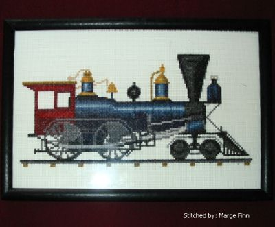 cross stitch pattern Toronto 4-4-0 Locomotive