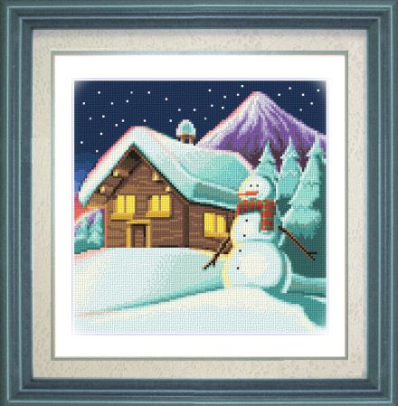 cross stitch pattern Mountain Chalet