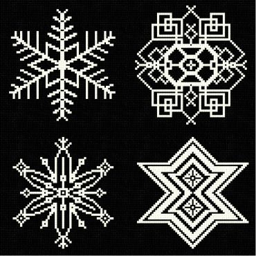 cross stitch pattern Snowflakes 7