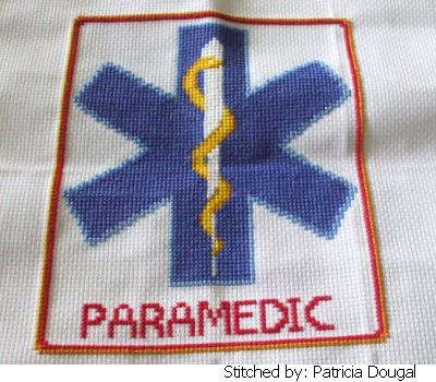 cross stitch pattern Paramedic Star of Life
