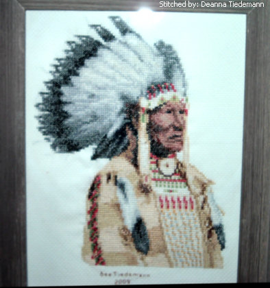 cross stitch pattern Crow Chief