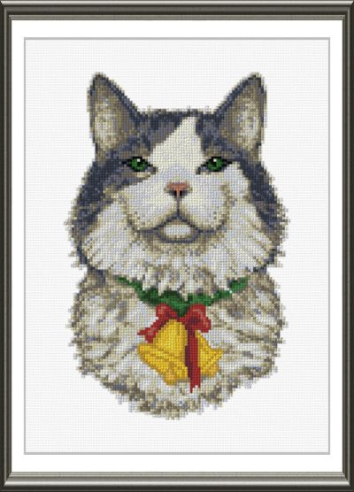 Christmas Cat Cross Stitch Pattern Cats
