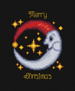 cross stitch pattern Christmas Moon