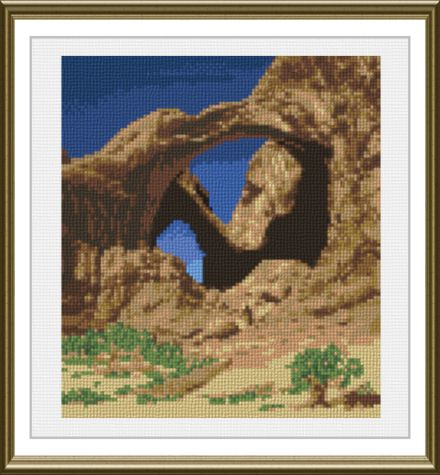 cross stitch pattern Double Arches