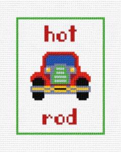 Hot Rod Cross Stitch Pattern Cars