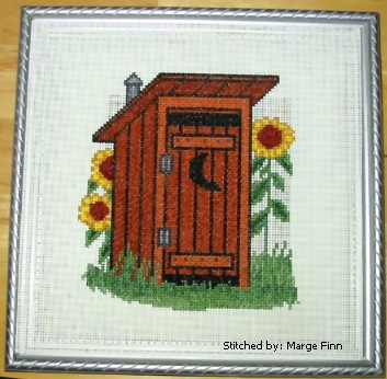 Outhouse Cross Stitch Pattern Architecture