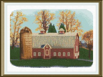 The Red Barn Cross Stitch Pattern Farm