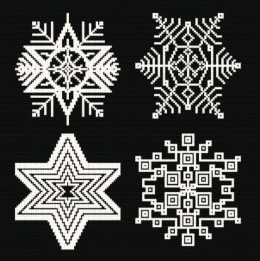 cross stitch pattern Snowflakes 8