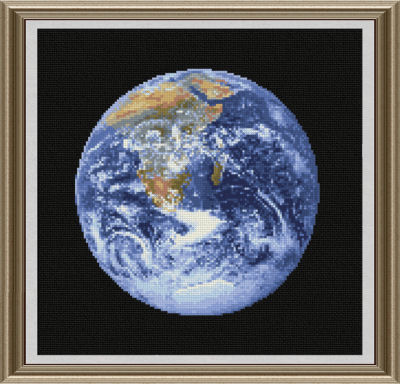 cross stitch pattern The Earth