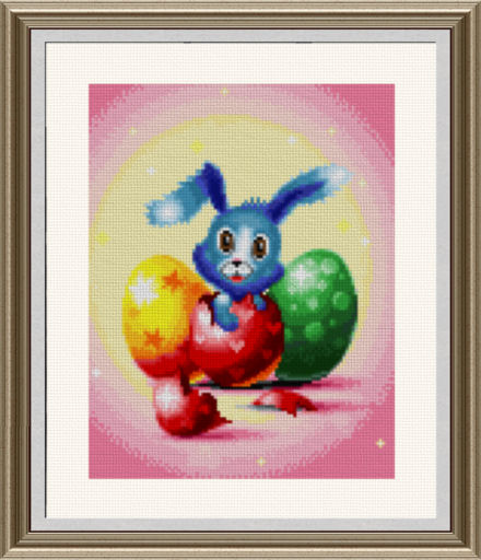 cross stitch pattern Easter Bunny