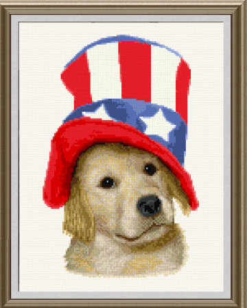 cross stitch pattern Golden 4th
