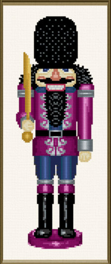 cross stitch pattern Nutcracker Colonel