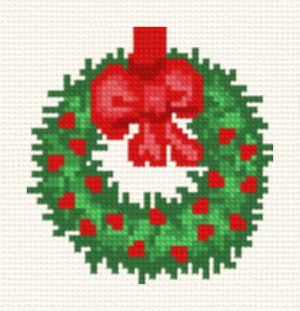 cross stitch pattern Wreath