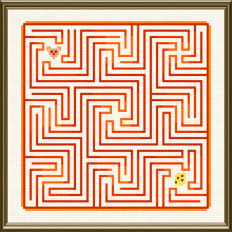 cross stitch pattern Mouse Maze