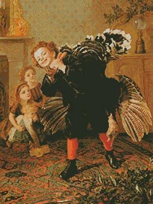 cross stitch pattern Christmas Time - Here's the Gobbler
