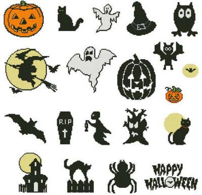 Small Halloween Small Halloween Motifs