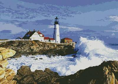 cross stitch pattern Lighthouse 3