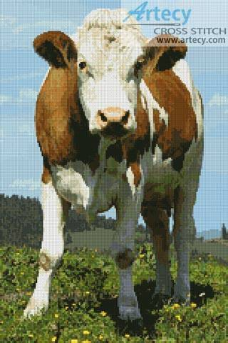 cross stitch pattern Cow 2