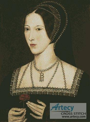 cross stitch pattern Anne Boleyn
