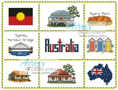 cross stitch pattern Australian Sampler