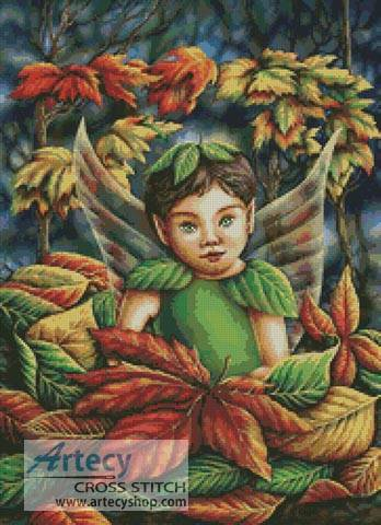 cross stitch pattern Autumn Fairy