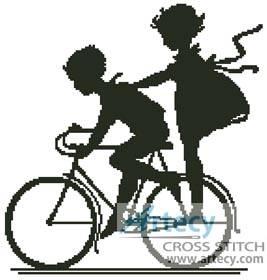 Bike Cross Stitch Pattern Kids