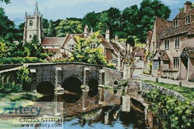 cross stitch pattern Castle Combe, Wiltshire