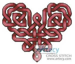 cross stitch pattern Celtic Heart