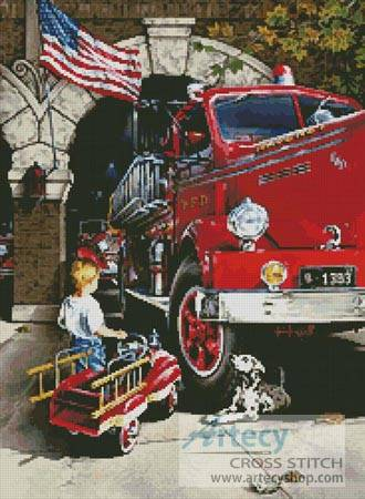 Firefighter Cross Stitch Patterns. cross stitch pattern Childhood