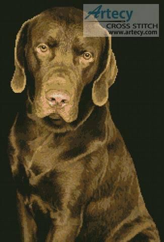 Chocolate Lab Cross Stitch Pattern Dogs