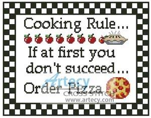 cross stitch pattern Cooking Rule