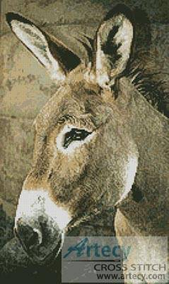 cross stitch pattern Donkey