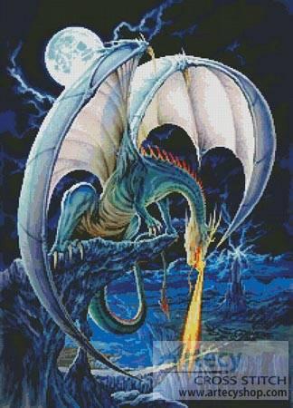 Dragon Causeway Cross Stitch Pattern Dragons