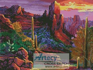 cross stitch pattern Desert Canyon