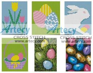 cross stitch pattern Easter Cards