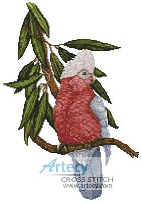 cross stitch pattern Galah