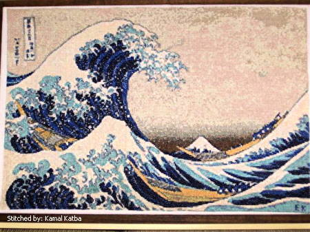 cross stitch pattern The Great Wave
