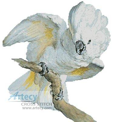 cross stitch pattern Great White Crested Cockatoo