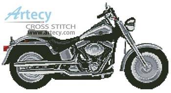 MOTORCYCLE cross stitch pattern