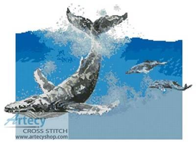 Humpback Whale Cross Stitch Pattern Whale