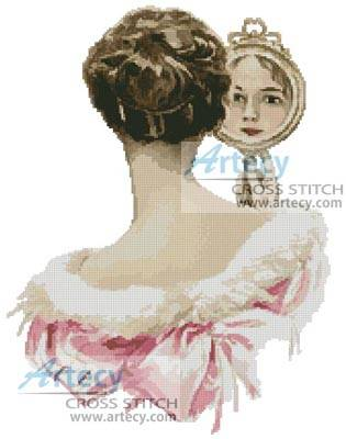 Looking Backward Cross Stitch Pattern Women