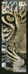 cross stitch pattern Leopard Close Up Bookmark