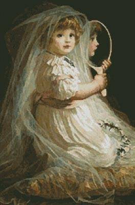 cross stitch pattern The Little Bridesmaid