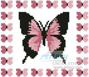 cross stitch pattern Mini Butterfly Sampler 4