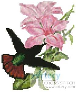cross stitch pattern Mini Hummingbird