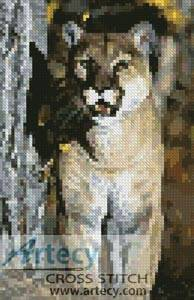 cross stitch pattern Mini Mountain Lion