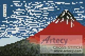 cross stitch pattern Mini Mount Fuji in Clear Weather