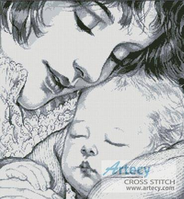 cross stitch pattern Mother Holding Baby