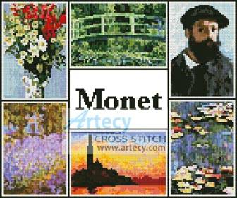 cross stitch pattern Monet Sampler