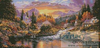 cross stitch pattern Morning Sunlight